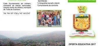 Inscribete con nosotros!! Unidad Académica Atliaca, Mpio. de Tixtla