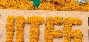 Ofrenda floral en honor a San Miguel Arcangel