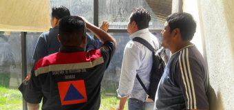 Personal de Protección Civil del Estado evalúa las instalaciones
