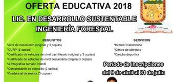 Oferta educativa unidad académica de Ayutla de los Libres